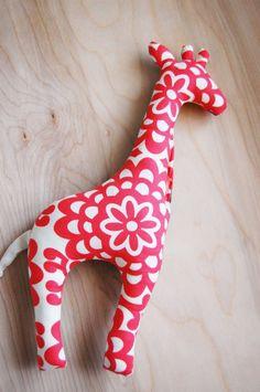 giraffe stuffed toy. cherry wallflower