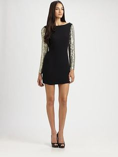 Parker  Sequin Cutout Dress  $330
