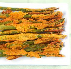 Baked Asparagus Pakoras vegan snack, bake asparagus, holy cow, holi cow, vegan recip, side dish