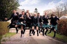 Jumping Groom 's party !!  One of my favourite photos ever! Scottish wedding at #Ardtornish in the western #Highlands. March 2012  #justinkrausephotography