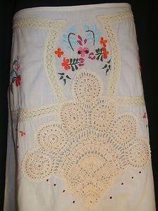 Free People Crochet Trim Skirt, Size 8, $24.99 on Ebay