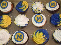 Michigan Cupcakes! YUM! #UltimateTailgate #Fanatics