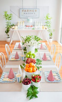 Table for farm party by @Kara'sPartyIdeas