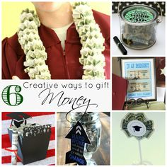 Graduation gift ideas. Creative ways to give graduation money!  www.skiptomylou.org