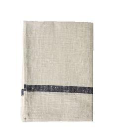 Linen Dish Towel - Navy Stripe - Brook Farm General Store