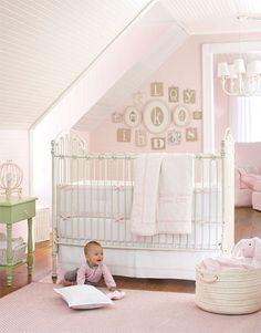 little girls, letter, girl nurseries, babi, baby girls, cribs, pottery barn, kid, girl rooms
