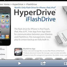 Flash drive for iPad