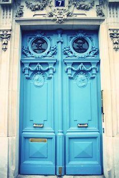 paris, the doors, blue doors, dream, colors, front doors, french blue, aqua, blues