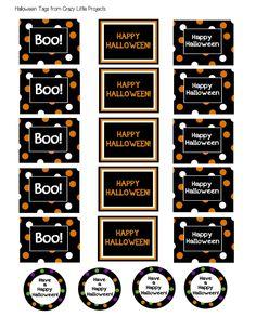 Free Halloween Printable Gift Tags