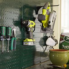 Green Pegboard from Home Depot