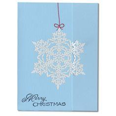 Holiday Card 71 Snowflake Merry Christmas