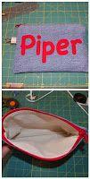 Make an Appliqued Zippered Pouch