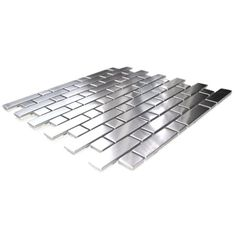 Brick And Square Pattern Stainless Steel Mosaic Tile
