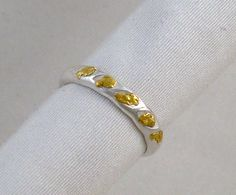 Five Nugget Ring Sterling Silver and Alaskan Natural by YukonRon