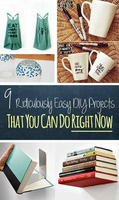 Easy DIY Projects That You Can Make Right Now