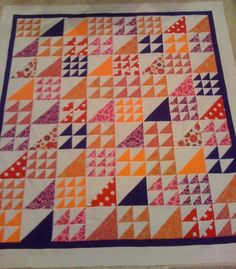 sew, quilting patterns, triangle quilts, color pallets, half square triangles, nice, color combinations, squar triangl, bright colors