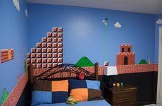 kid bedrooms, brothers room, bedroom kids, super mario brothers, kid rooms
