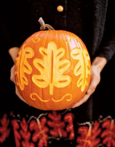 fall leaves + pumpkins!