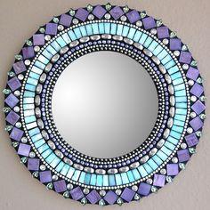 "Fab.com | Turquoise Purple Mirror 10"""