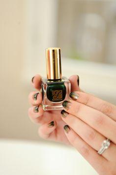 Gilded Fade manicure