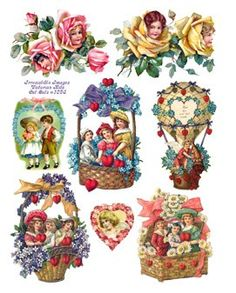 Miniature Printables - Vintage Valentines