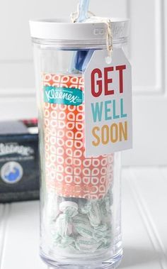 What a thoughtful gift! A get-well-soon care package and free printables. #avery