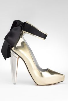 add a touch of metallic glamour! shoes by Gio Diev.