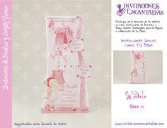 Invitacion con diseño de armario