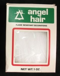 Angel Hair. We used to put it on the Christmas tree.  It made the lights glow.  But it was made from spun glass and  was removed from the market for safety issues.