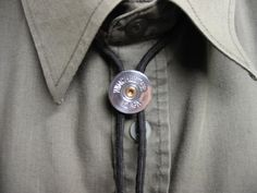 Shotgun Shell Bolo Tie Nickel Winchester 12 by awelldressedbullet. $16.00, via Etsy.