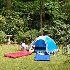 "Backyard ""Campout"" Party"