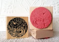 Saltspring Yin Yang rubber stamp from oldislandstamps