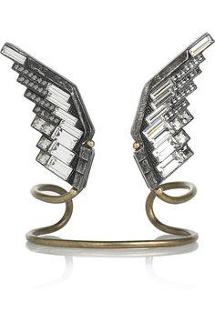 Lanvin crystal eagle wings cuff
