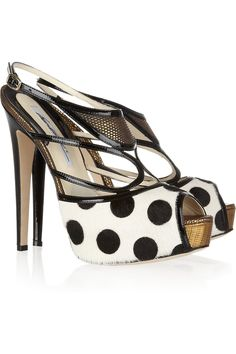 THE TREND EDIT SS2012 The Ready to Wear Heels No.11/25   BRIAN ATWOOD Aura polka-dot calf hair sandals