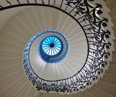 Tulip Stairs, Greenwich, England  The Queen's House in Greenwich features the first geometric self-supporting spiral staircase in Great Britain—commissioned back in 1616. The intricate flowers in the wrought-iron balustrade inspired the name Tulip Stairs (although, technically, the stylized blossoms are said to be fleurs-de-lis).