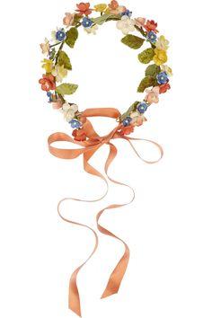 Eugenia Kim Anais floral ribbon headband NET-A-PORTER.COM