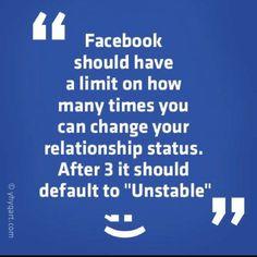 Facebook Relationship updates ...