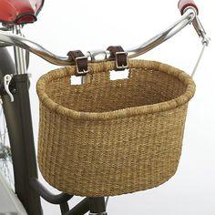 Asungtaba Bike Basket | Crate and Barrel        cute gift idea for a bike ride