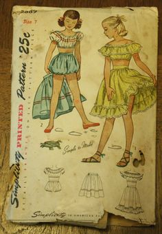 Simplicity 7692 1940s 40s Girls Bloomers by EleanorMeriwether, $14.00