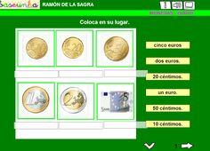 APRENDER ES DIVERTIDO 1º Y 2º: Euros y céntimos.