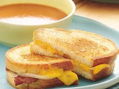 Give everyday grilled cheese a boost! Top sandwiches with cooked bacon pieces and sliced onion.