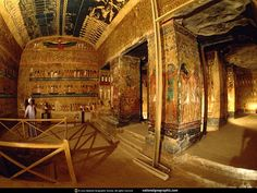 Tomb of Nefertari QV66 is one of the largest in the Valley of the Queens, Egypt