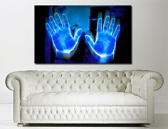 blue hand, electric blue, electr blue