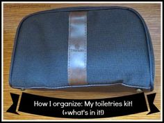Consolidate and organize your toiletries for upcoming trips or nights away from home. Check out this link and many more on A Bowl Full of Lemons