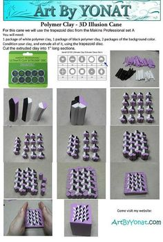 Polymer clay canes tutorials on Pinterest | Clay Crafts, Polymer Clay ...