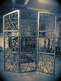 Handmade wrought iron decorative screen via Etsy