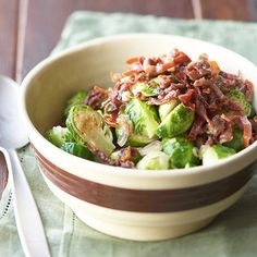 Brussels Sprouts with Frizzled Prosciutto - can make ahead