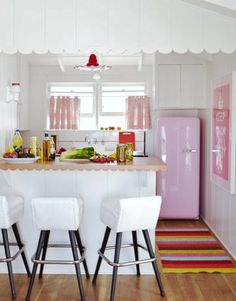 Must have this pink refrigerator!