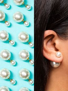 These double-headed earrings will add a little luxe factor in the coolest of ways. Wear them with more earring in the back (so right now!), or switch 'em around for a classic look—definitely not your mama's pearls!