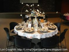 Bird Themed Luncheon table.  Follow link to look at more photos. Cute! Organized Chaos...